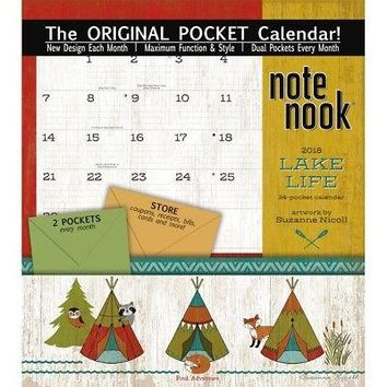 Lake Life  Note Nook Calendar, Pocket Wall by Avalanche Publishing