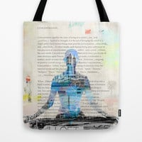 Yoga Book. Lesson 1 Concentration - painting - art print  Tote Bag by Pranatheory