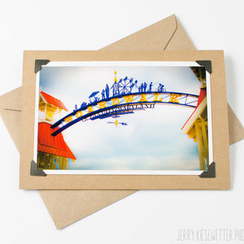 Ocean City Maryland Boardwalk Sign Photo Greeting Card - 4x6 5x7 Photo Card - Beach Theme Invitation - Affordable Print - Maryland Photo