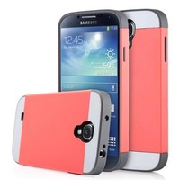 ULAK Galaxy S4 Case, Hybrid Slim Hard Back Case Cover Rubber Bumper for Samsung Galaxy S4 I9500 Rigid Plastic Shell + TPU 2in1 Daul Layer w/ Card Storage (Coral Pink/Grey) - Walmart.com