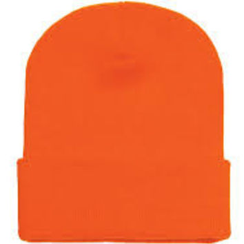 Orange Basic Beanie