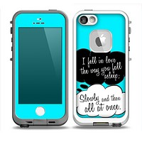 The Okay Speech Bubbles V5 LOVE Skin for the iPhone 5-5s Fre LifeProof Case