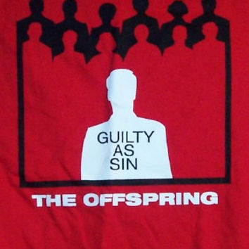 The Offspring T-Shirt Guilty As Sin Red Size XL