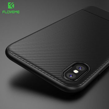 For iPhone X 8 7 6 Plus Case Soft TPU Carbon Fiber Back Cover For iPhone X 8 7 6 6s Plus Plain Ultra Thin Silicon Phone Shells