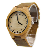 Bamboo 44mm Wooden Watch + Free Engraving-W-106