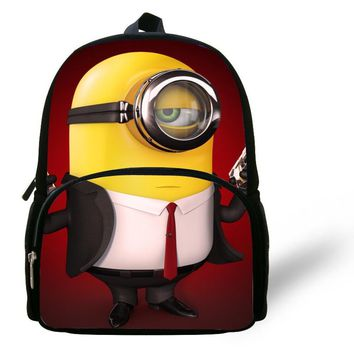 12-inch Mochila School Kids Backpack Minions Bags Despicable Me Boys School Bags Backpack Child Age 1-6