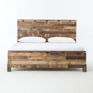 Bellona Reclaimed Wood King Bed