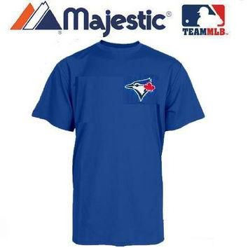 Toronto Blue Jays (YOUTH SMALL) 100% Cotton Crewneck MLB Officially Licensed Majestic