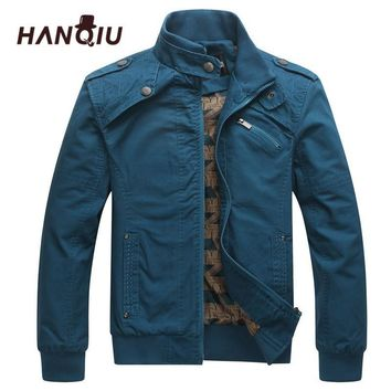 Trendy HAQNIU Bomber Jakcet Men Aeronautica Military Jackets Tactrcal Men Coat Slim Fit Thin Cotton Pilot Men Jacket AT_94_13