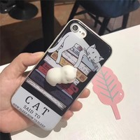 Squishy Kitten Cat Phone Case For iPhone 6, 6s, 7, 7 Plus