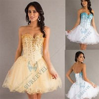 Fashion Sequin Short Homecoming Evening Dress Cocktail Party Dress Prom Gown