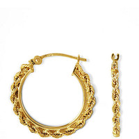 Lord & Taylor 14 Kt. Gold Small Braided Hoop Earrings