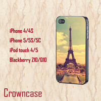 ipod 5 case,ipod 4 case,iphone 5s case,iphone 5c case,iphone 5 case,iphone 4 case,z10 case,q10 case--Eiffel Tower,in plastic and silicone.