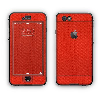 The Red Jersey Texture Apple iPhone 6 LifeProof Nuud Case Skin Set
