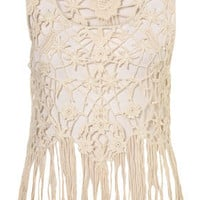 Knitted Lace Flower Vest - Knitwear - Clothing - Topshop USA