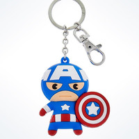Disney Parks Marvel Captain America Cutie Keychain New with Tags