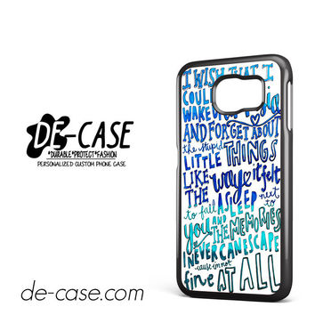 5 Seconds Of Summer Lyrics Amnesia 5SOS For Samsung Galaxy S6 Samsung Galaxy S6 Edge Samsung Galaxy S6 Edge Plus Case Phone Case Gift Present