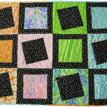 Geometric Quilt Wall Hanging or Baby Quilt