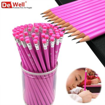 12Pcs/lots Kawaii HB lapiceros School Pencils Writing Wooden learn Pencil for Student Stationary Pencil School Office Supplies