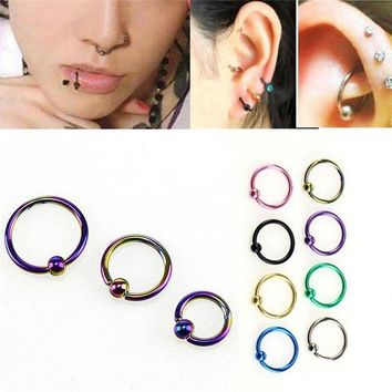 ac DCCKO2Q 8 pcs/set  Fake Nose Ring Lip Ear Nose Clip On Fake Piercing Nose Lip Hoop Rings Earrings Golden Rose Ball body jewelry Colorful