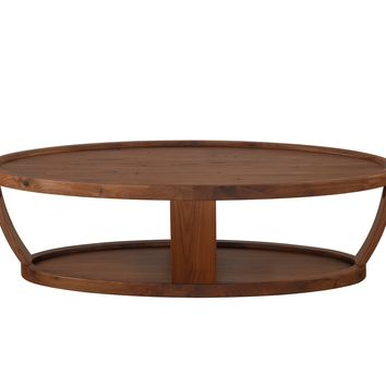 Dylan Oval Coffee Table Rustic Walnut