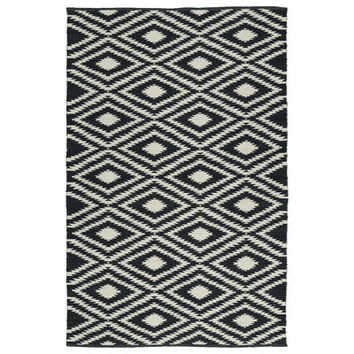 Brisa Black/White Indoor/Outdoor Area Rug | Wayfair