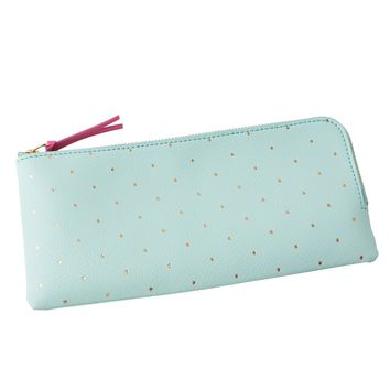 LEATHER PENCIL CASE: MINT