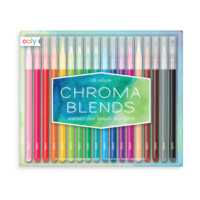 Chroma Blends Watercolor Brush Markers Set of 18 by Ooly