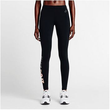Nike Pro Exercise Fitness Gym Running Training Leggings-1