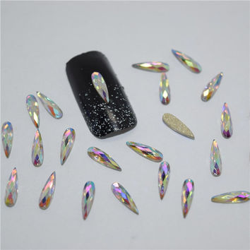 10psc New  Color glitter rhinestones 3D Nail Art Decorations,Alloy Nail Charms,Nails Rhinestones  Nail Supplies CZ012