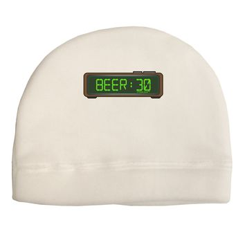 Beer 30 - Digital Clock Adult Fleece Beanie Cap Hat by TooLoud