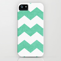 chevron - mint iPhone & iPod Case by her art