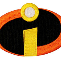 Disney/Pixar The Incredibles Logo Costume Embroidered Iron On Officially Licensed Applique Patch