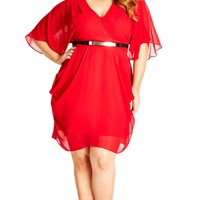 Plus Size Color Wrap Dress - City Chic