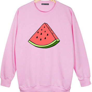 WATERMELON OVERSIZED SWEATER JUMPER WINTER FRUIT RAVE HIPSTER GRUNGE FASHION SWAG TUMBLR | Minga London