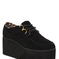 YRU Kreep Er Black Platform Shoes