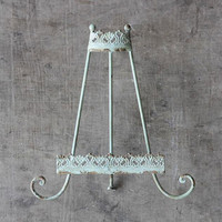 Creative Co-op Distressed Aqua Metal Easel from Elizabeth's Embellishments