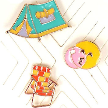 Camping Assorted Pin Set