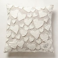 Heart Collector Pillow by Anthropologie Neutral 24 Square Pillows