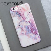 Hot Selling Marble Rock Stone Texture Pattern Back Cover Case for Apple iphone 7 For iPhone7 7 Plus IMD soft TPU Phone Cases