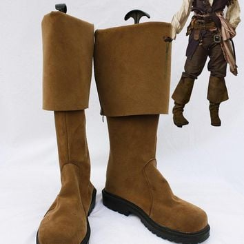 Pirates of the Caribbean Jack Sparrow Boots Cosplay Halloween Party Shoes Fancy Custom