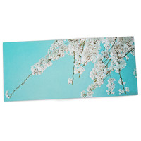 "Monika Strigel ""Hanami"" Teal White Desk Mat"