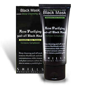 SHILLS Blackhead Remover,Pore Control, Skin Cleansing, Purifying Bamboo Charcoal, Peel Off Facial Black...