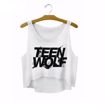 """Teen Wolf"" Letters Crop Top"