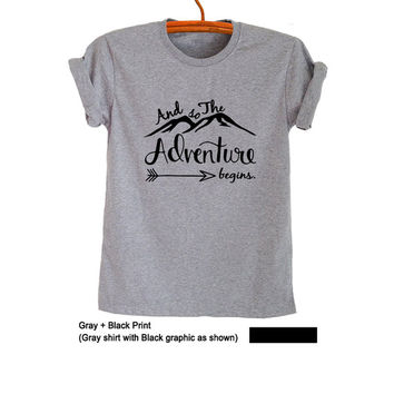 Adventure TShirt Tumblr Tee Shirt Travel T Shirt Men Ladies Tops Women T-Shirts Nature Shirt Screen Print TShirt Pinterest Polyvore Gifts