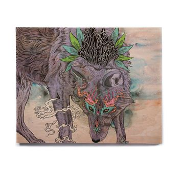 "Mat Miller ""Journeying Spirit"" Wolf Birchwood Wall Art"