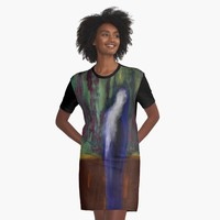 """Kilauea Vigil"" Graphic T-Shirt Dress by BillOwenArt 