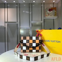 HCXX 19Aug 578 Louis Vuitton LV M67692 Shoulder Strap Grid Soft Clutch Bag 25-20-5 cm