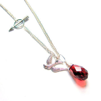 Hunger Games Necklace Katniss Inspired Silver by SovereignSea