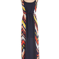 ModCloth Long Spaghetti Straps Maxi Bright by Your Side Dress